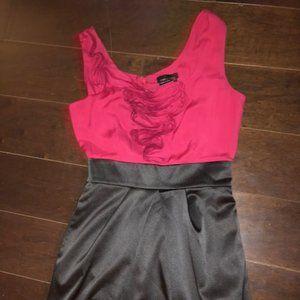NWOT BCBG Max & Cleo Red/Blk Colourblock Dress